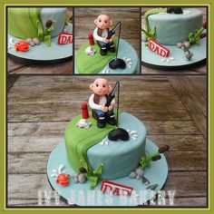 Love this birthday cake idea for any fisherman! FISHERMANS CAKE cakepins.com