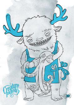 sewing creature by luiza kwiatkowska, via Behance