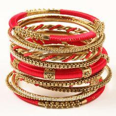 Amrita Singh Jewelry: Designer Indian Jewelry and Fashion Accessories The Bangles, Gold Bangles, Coral And Gold, Red Gold, Jewelry Accessories, Fashion Accessories, Fashion Jewelry, Gold Fashion, Asian Fashion