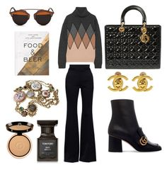 """#fashion_autumn"" by renesmi ❤ liked on Polyvore featuring Alexander McQueen, Prada, Gucci, Christian Dior, Tom Ford, Chanel, Giorgio Armani, PHAIDON, love_fashion and golden_autumn"