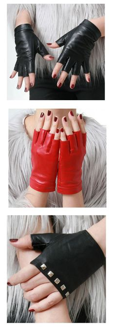 Shop punk leather gloves at RebelsMarket.