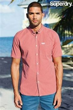 Superdry Red Short Sleeve Check Shirt