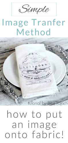 How To Transfer An Image Onto Fabric - Simple Image Transfer Tutorial - DIY Dinner Napkin Craft, Citra solv fabric transfer method with Bliss of Bliss Ranch Diy Projects To Try, Craft Projects, Craft Ideas, Dremel Projects, Diy Ideas, Decorating Ideas, Decor Ideas, Diy Image, Fabric Crafts