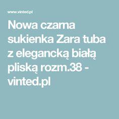 Nowa czarna sukienka Zara tuba z elegancką białą pliską rozm.38 - vinted.pl