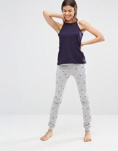 Image 4 of New Look Tall Polka Dot Pyjama Set