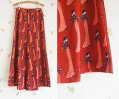 1970's Wide Leg Trousers / 70s Does 20s / Novelty by foxandrook