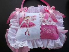 Personalized Ruffled Pink and White Tooth Fairy by SewingbyEmma, $24.50