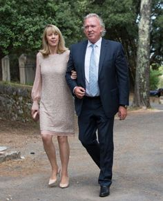 Hartmut and Gabriele Lademacher attend the baptism ceremony of their grand daughter Princess Amalia, at the Saint Ferreol Chapel in Lorgues, France on 12.07.2014