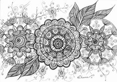 Original Mandala Flowers Drawing, Black & White Illustration, Contemporary Modern Art, Wall decoration https://www.etsy.com/listing/195701938/original-mandala-flowers-drawing-black?ref=shop_home_active_8