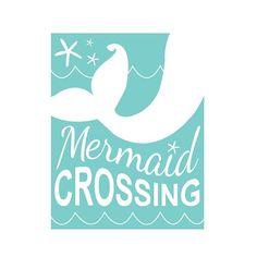 Mermaid nursery, mermaid nursery decor, little mermaid, nursery wall art, playroom, mermaid crossing, beach nursery, surf nursery