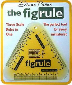 Dollhouse Miniature Ruler That Measures in 1 inch Quarter Half Scale | eBay
