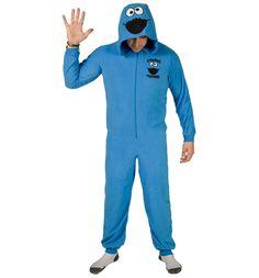 Unisex Cookie Monster Sesame Street Hooded Onesie
