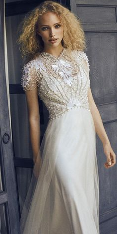 Jenny Packham Magic luxury bridal gown 2017 Collection - Price Designer wedding dresses at The Wedding Shop showroom in Colchester Essex. Jenny Packham Wedding Dresses, Jenny Packham Bridal, Modest Wedding Dresses With Sleeves, Size 12 Wedding Dress, Bridal Dresses, 2018 Wedding Dresses Trends, Vintage Inspired Wedding Dresses, Country Wedding Dresses, Wedding Dresses For Sale