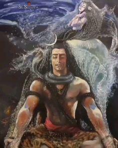 Lord Shiva with devi Ganga Shiva Tandav, Rudra Shiva, Shiva Parvati Images, Krishna, Lord Shiva Pics, Lord Shiva Hd Images, Lord Shiva Family, Lord Ganesha Paintings, Lord Shiva Painting