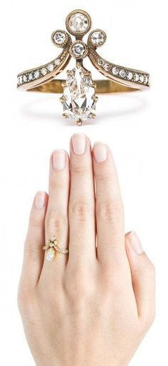 Tiara Ring. I'm in love. Not for engagement but just to have because it is lovely!