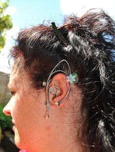 pair fairy ear cuffs elven earring ear wrap festival jewellery custom order size. £19.99, via Etsy.