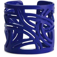 Moschitto Designs Cutout Geometric Cuff ($21) ❤ liked on Polyvore featuring jewelry, bracelets, accessories, blue, cuffs, indigo, blue bangles, geometric jewelry, cut out jewelry and cuff jewelry