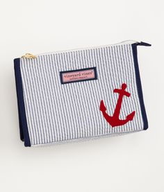 Adorable Vineyard Vines Anchor Makeup Bag.  Total splurge at $45 (c'mon, for a makeup bag??) but it's SO cute.