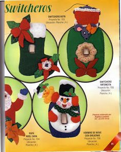 Album Archive - 193 Natal Pano Lency - Creando Ideas n. Christmas Holidays, Christmas Ornaments, Winnie The Pooh, Felt, Album, Holiday Decor, Creando Ideas, Google, Crochet Hair