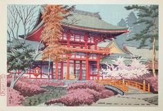 Red Temple by Takeji Asano, 1931