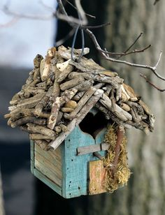 Reclaimed Wood & Driftwood Birdhouse by LivingSimplistically, $50.00