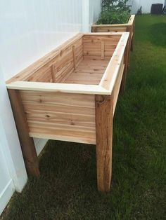 Raised bed planter Raised bed - bed ideas - raised bed with raised planter . Raised bed planter Raised bed - bed ideas - Raised bed with raised planter build herself Raised Planter Boxes, Planter Beds, Raised Garden Planters, Vegetable Planter Boxes, Raised Herb Garden, Elevated Garden Beds, Raised Bed Gardens, Pallet Planter Box, Garden Planter Boxes
