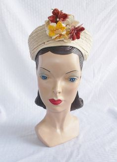 Please like my Facebook Page http://www.facebook.com/MyVintageHatShop. For exclusive discounts and promotions.  Delightful vintage turban style
