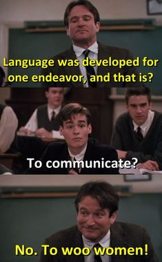 - Robin Williams in Dead Poets Society 1989 Cinema Movies, Movie Tv, Movies Showing, Movies And Tv Shows, Sean Leonard, Der Club, Best Movie Lines, Captain My Captain, Favorite Movie Quotes