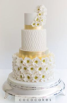 Featured Cake: COCO Cakes Australia; www.cococakes.com.au; Wedding cake idea.