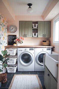 60 Breathtaking Laundry Room Decor and Design Ideas - # Breathtaking . - 60 stunning laundry room decor and design ideas - Laundry Room Remodel, Laundry Room Cabinets, Basement Laundry, Farmhouse Laundry Room, Small Laundry Rooms, Laundry Room Organization, Laundry Room Design, Organization Ideas, Diy Cabinets