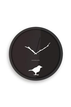 The hands on this clock are little branches! This is so cute