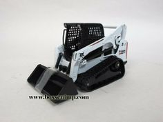 Bobcat Skid Loader T-770 on Track 1:25 Scale by CLOVER. $29.99. 1/25 scale. Age Grade 14+  Diecast   * Loader raises and lowers and bucket dumps  * Rubber Bobcat style tracks  * Bucket is detachable fromt the Bob-Tach mounting system   Approximate size 5 3/4 inches long x 3 inches tall