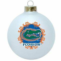 Florida Gators Frosted Glass Ball Ornament | eBay