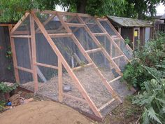 """Chicken run - place """"back wall"""" against an existing structure: house, shed, garage or large coop!"""