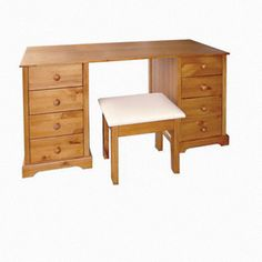 8 Drawer Dressing Table & Stool  Table: H740mm x W1400mm x D570mm Stool: H460mm x W320mm x D420mm