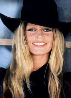 Bridgette Bardot -- Rockin' a black hat-perhaps one of the most beautiful women ever