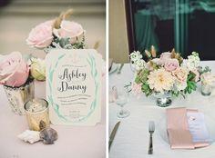 Tablescape by Beau & Arrow Events/Amy Lynn Photography via 100 Layer Cake | Beach Wedding Table Decor | SouthBound Bride #beachwedding