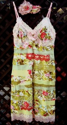 upcycled slip dress - Google Search