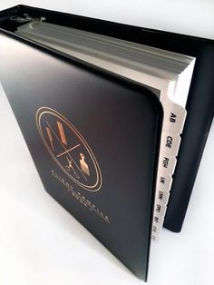 Client Profile Book (black & gold)