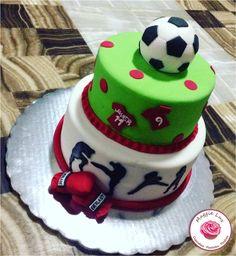 Futbol & kickboxing cake!