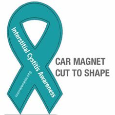 Interstitial Cystitis Custom Ribbon And September On Pinterest - Custom awareness car magnet