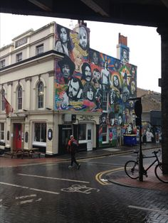 The Prince Albert Brighton July 2013 on a miserable day. Banksy a bit overshadowed by the rest of the street art - only a good thing if you ask me
