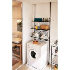 21 Genius Japanese Organization Hacks for Small Apartments These Japanese inspired home organization ideas are genius! Learn how to maximize extremely small spaces with these cool hacks. Small Laundry Rooms, Laundry Room Organization, Laundry Room Design, Organization Ideas, Small Bathroom, Storage Ideas, Bathroom Ideas, Organizing, Shelving Ideas