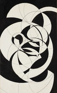 Rodchenko, Alexander (1891-1956) - Compass Compositon (ink)