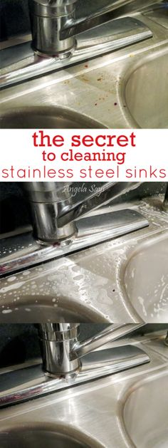 The Secret to Cleaning Stainless Steel Sinks | Angela Says
