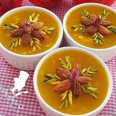 "@ashpazi_amekati on Instagram: ""مسقطی_کاسه_ای ماقوت_زعفرانے . . مواد لازم نصف لیوان نشاسته گل سه و نیم لیوان آب سرد نصف لیوان گلاب پودر هل نصف ق چ زعفرون دم کرده چهار ق غ…"" Thai Red Curry, Ethnic Recipes, Sweet, Food, Candy, Essen, Meals, Yemek, Eten"
