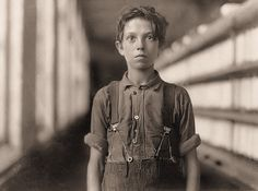 child labor...The Mill: Jo Bodeon, a back-roper in the mule room at Chace Cotton Mill. Burlington, Vermont.