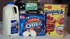 How to make Deep Fried Halloween Oreos