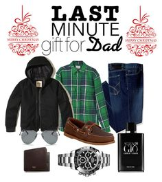 """Dad's Gift"" by yuanlatumahina on Polyvore featuring Calvin Klein, MANGO, Hollister Co., Sperry, Rolex, Mulberry, Ray-Ban, Giorgio Armani, giftguide and Christmas"