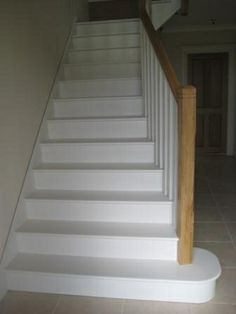 1000 images about hall stairs landing on pinterest - Painting wooden stairs white ...